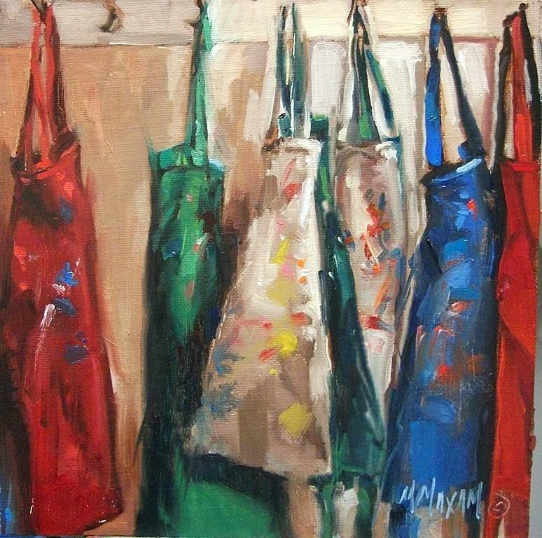 """A Hard Day's Work"" original fine art by Mary Maxam"