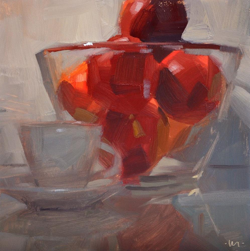 """Nectarines By Moonlight"" original fine art by Carol Marine"