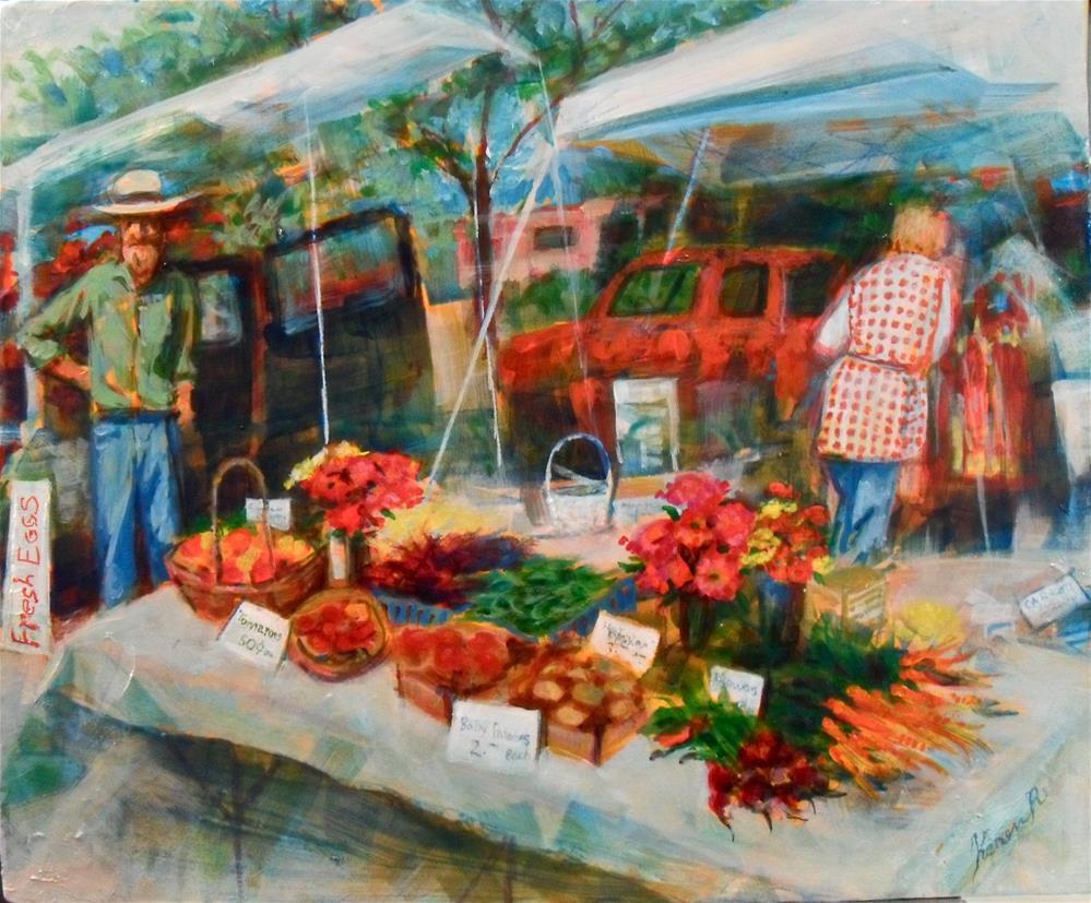 """Farm Market"" original fine art by Karen Roncari"