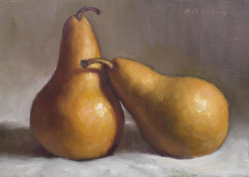 """""""Bosc Pears"""" original fine art by Debra Becks Cooper"""