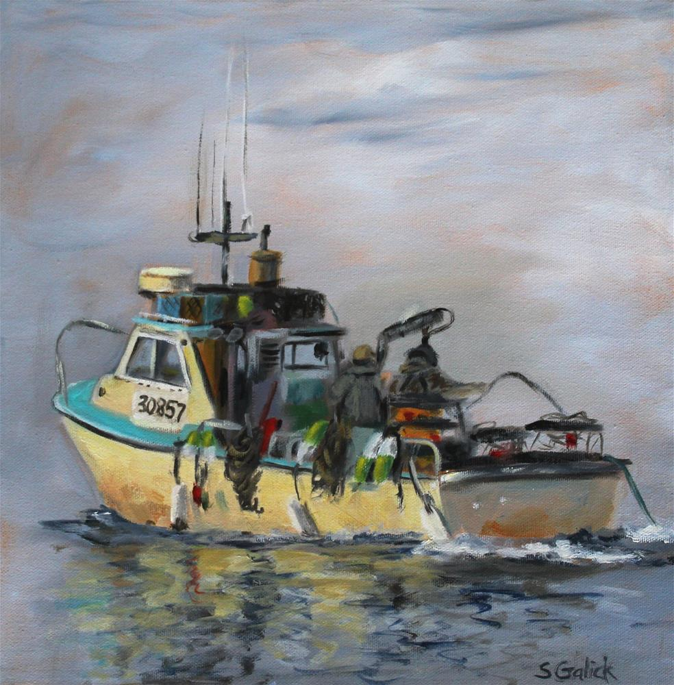"""Crabbin'"" original fine art by Susan Galick"