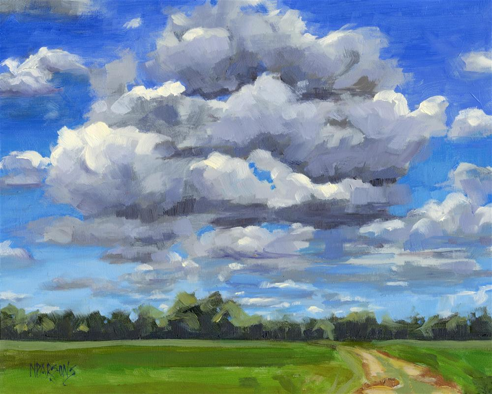 """Clouds Got In My Way"" original fine art by Nancy Parsons"