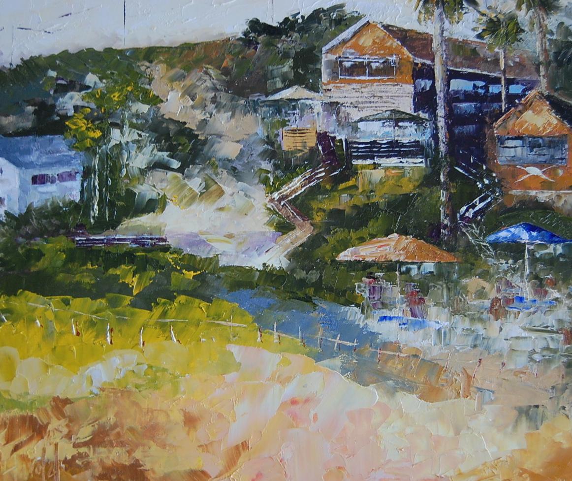 """Crystal cove Morning"" original fine art by Deborah Harold"