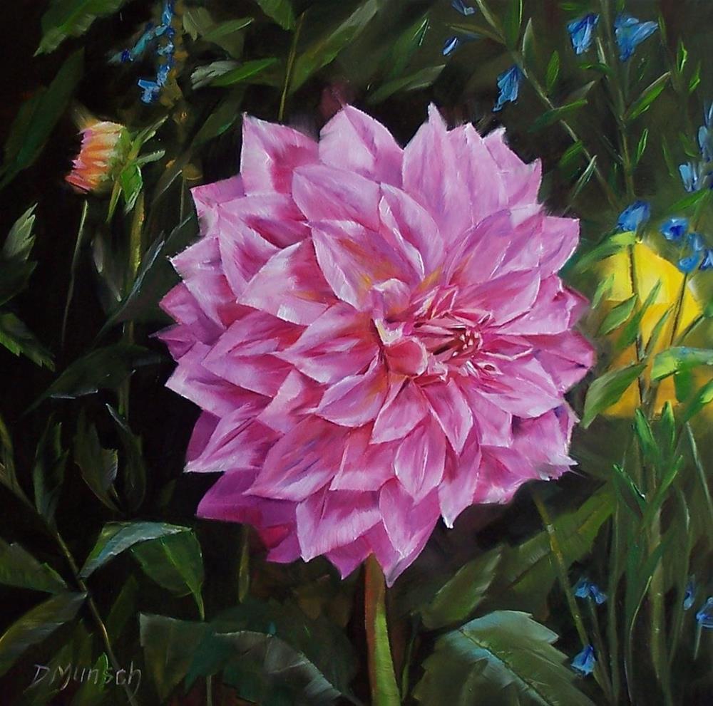 """""""Mary's Dahlia"""" original fine art by Donna Munsch"""