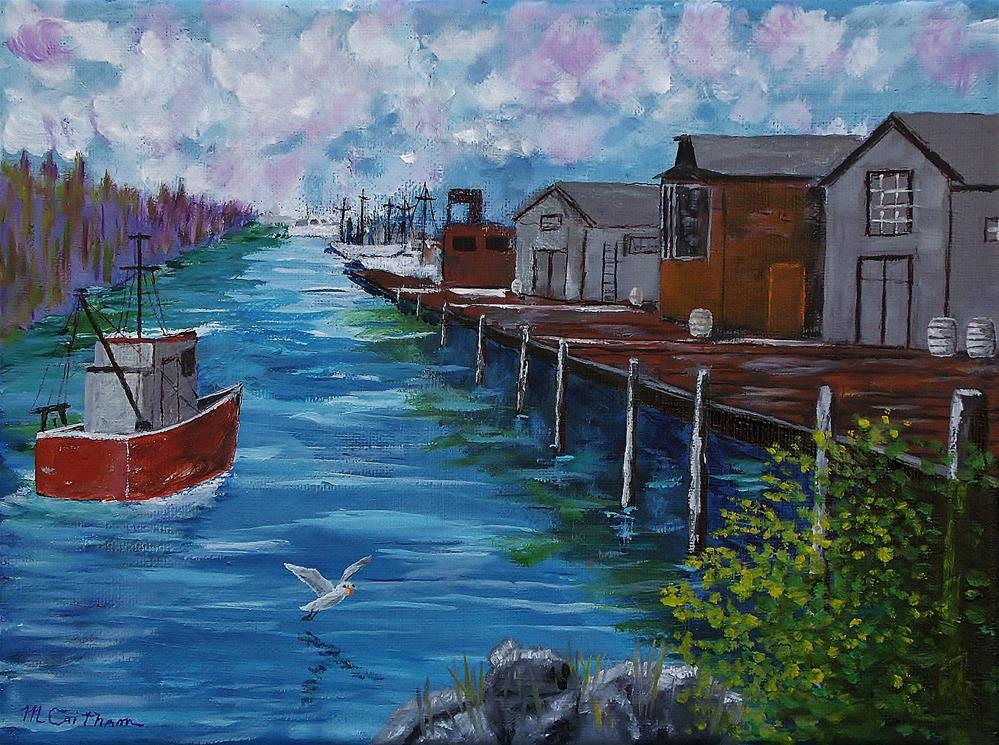 """""""Good Day Fishing"""" original fine art by Mike Caitham"""