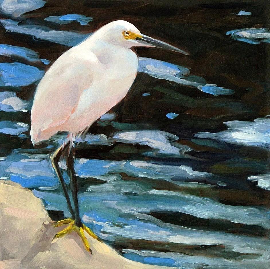 """Egret-1"" original fine art by Joanna Bingham"