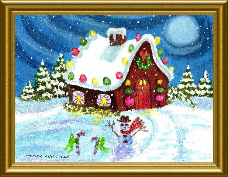 """Right Down the Road from the North Pole"" original fine art by Patricia Ann Rizzo"