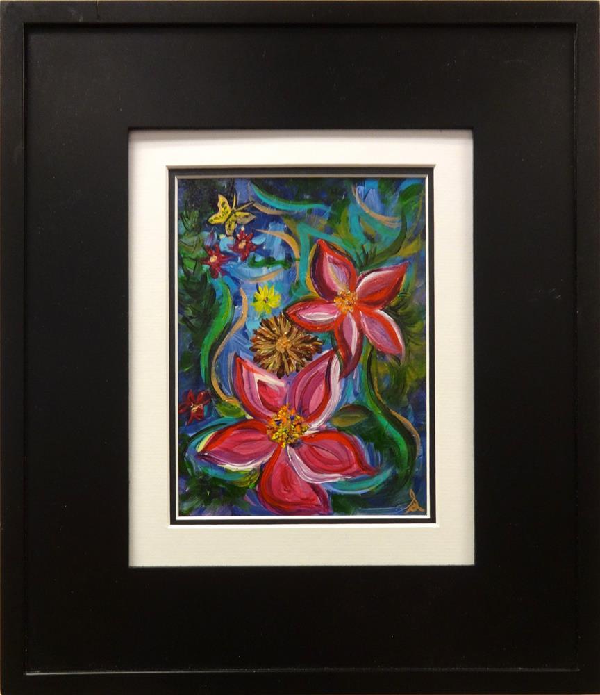 """3204 - Frame and Mat - Floribunda"" original fine art by Sea Dean"
