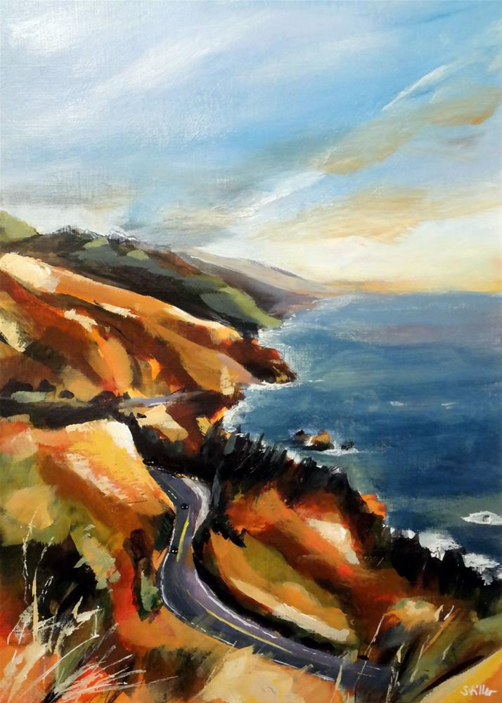 """3023 Californian Coast"" original fine art by Dietmar Stiller"