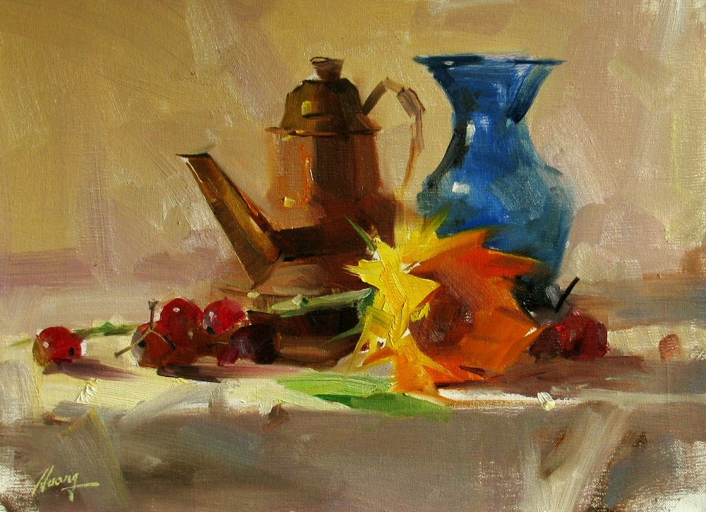"""""""Demo at Wethersfield 2012 2 --- Sold"""" original fine art by Qiang Huang"""