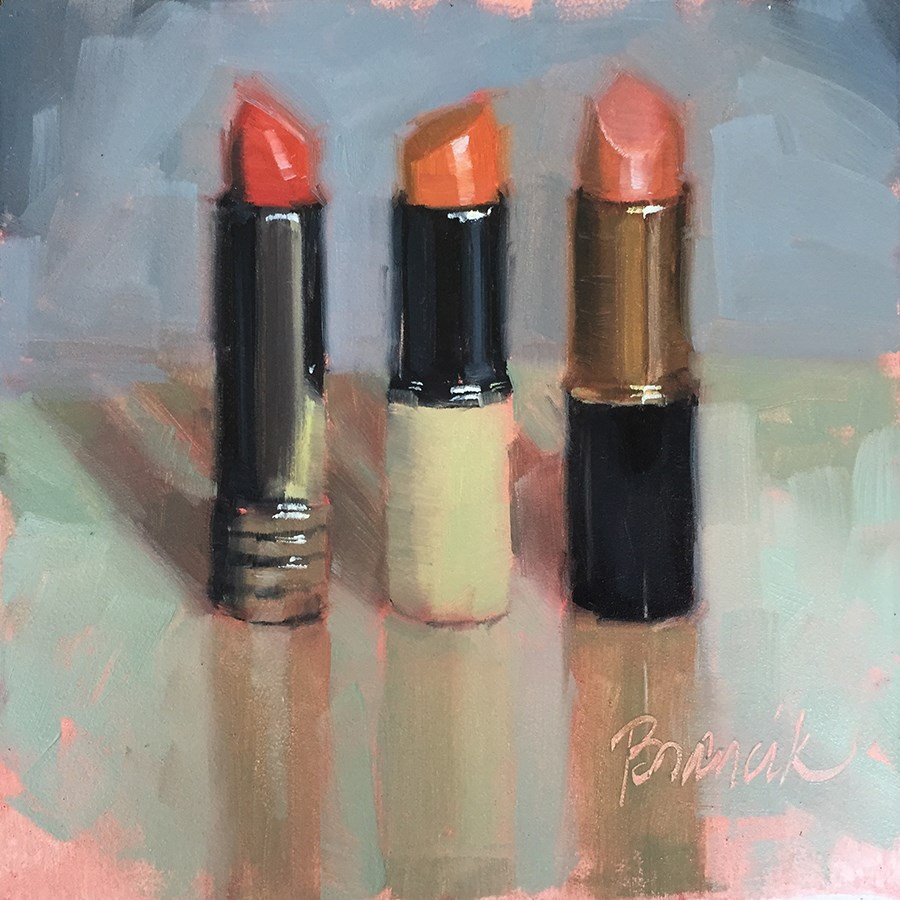 """""""3 Shades of Red"""" original fine art by Candace Brancik"""