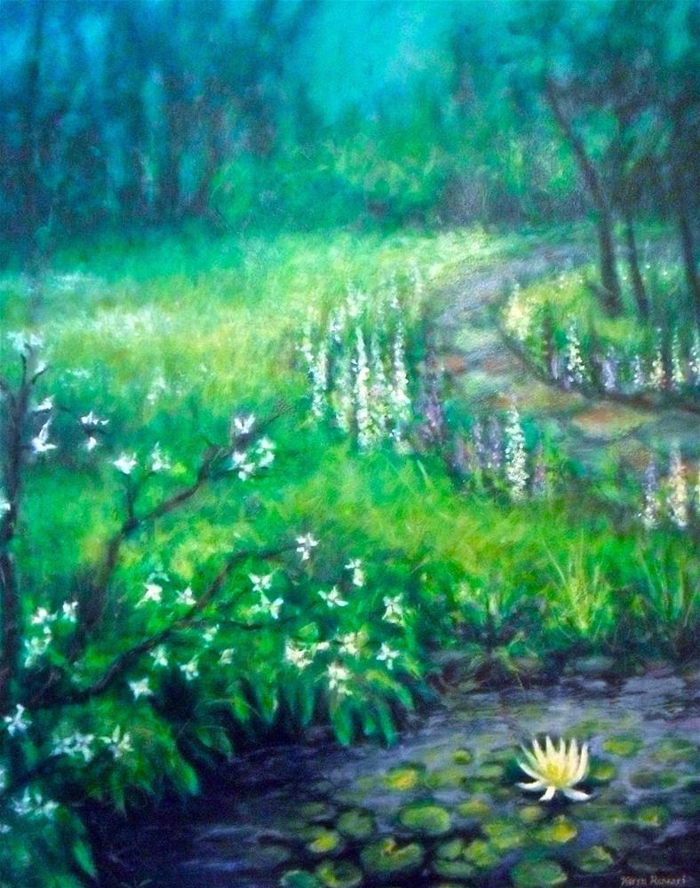 """""""Quiet Garden"""" original fine art by Karen Roncari"""