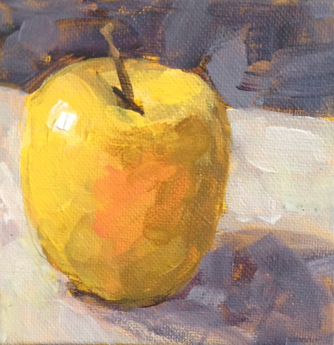 """Golden Delicious"" original fine art by Shannon Bauer"