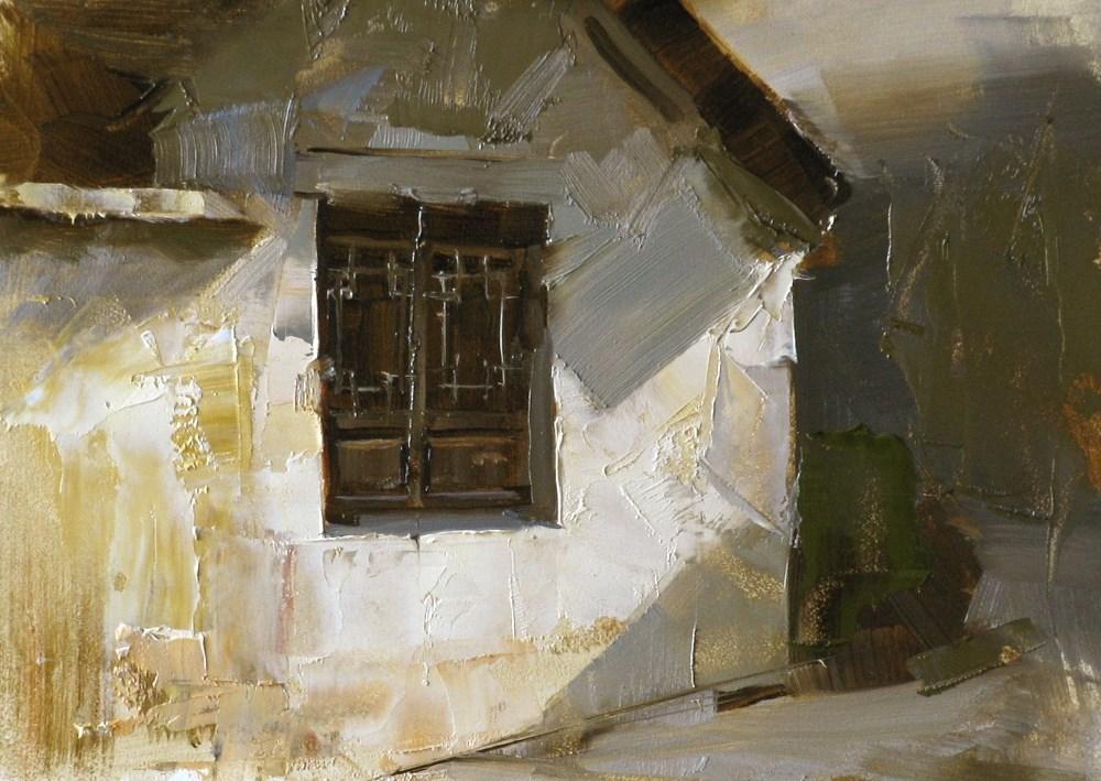 """Old Window"" original fine art by Qiang Huang"
