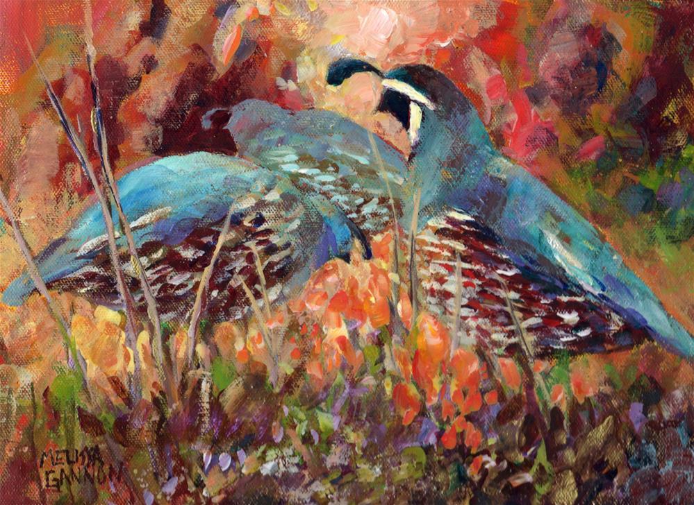 """Wandering Quail"" original fine art by Melissa Gannon"