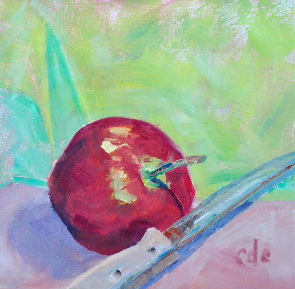 """Apples for Lunch"" original fine art by Catherine Crookston"