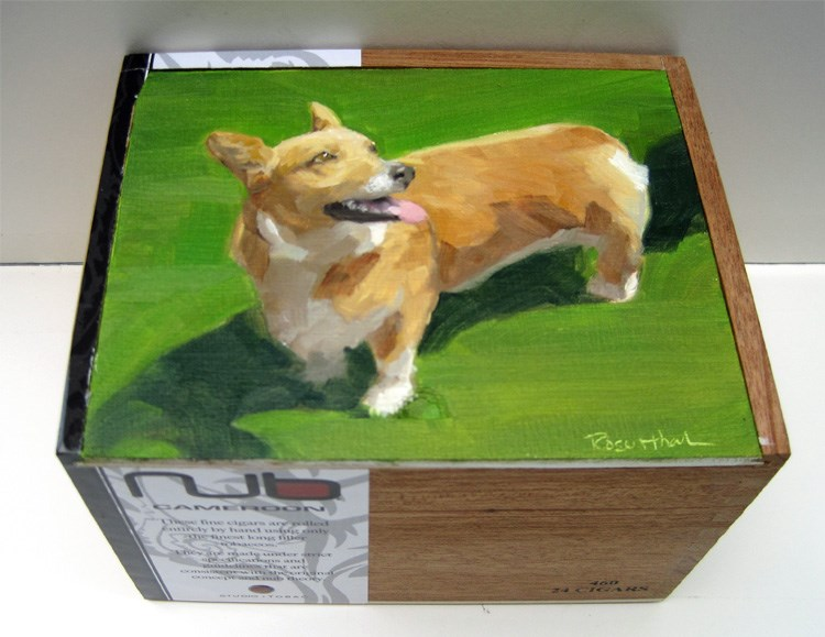 """Pet Memory Box"" original fine art by Robin Rosenthal"