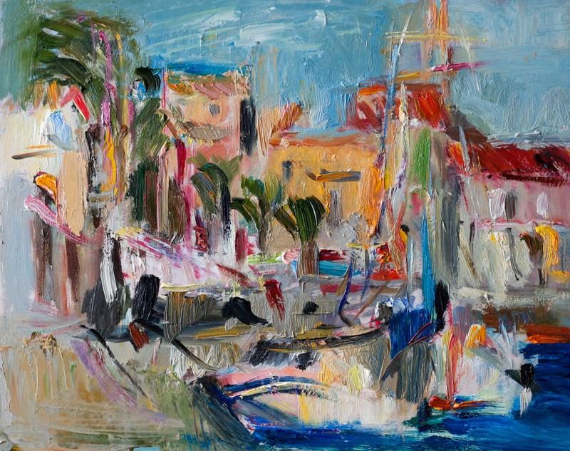 """Befor the Storm - Plein Air Seascape"" original fine art by Anna Fine Art"