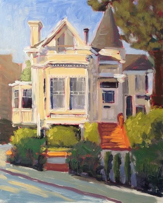 """White Victorian"" original fine art by Deborah Newman"