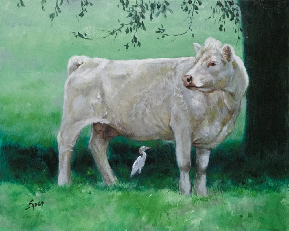 """Lily"" original fine art by Linda Eades Blackburn"