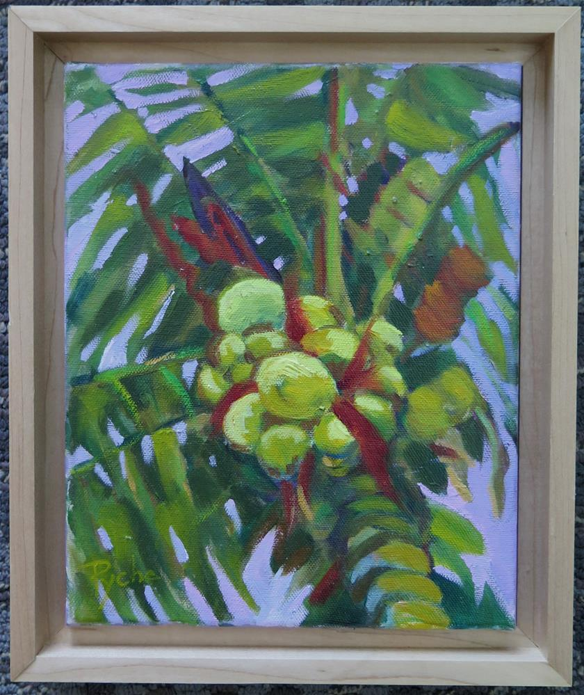 """""""Palm with Bunch of Coconuts"""" original fine art by Mary Pyche"""