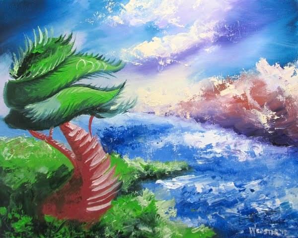 """Mark Webster - Abstraction 18 - Abstract Landscape Oil Painting"" original fine art by Mark Webster"