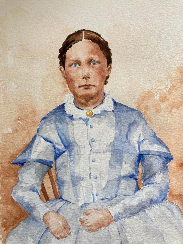 """My 3rd Great Grandmother, Lucy Benson"" original fine art by Judith Freeman Clark"