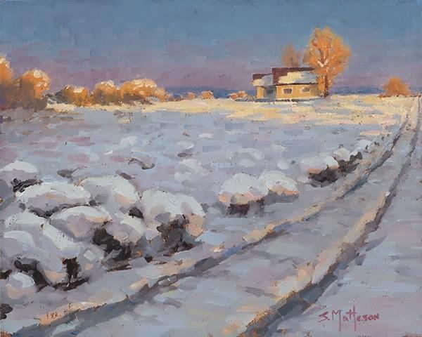 """Evening Glow"" original fine art by Susan Matteson"