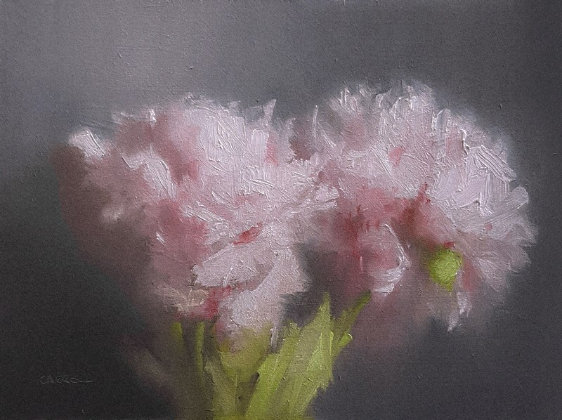 """Two Peonies"" original fine art by Neil Carroll"