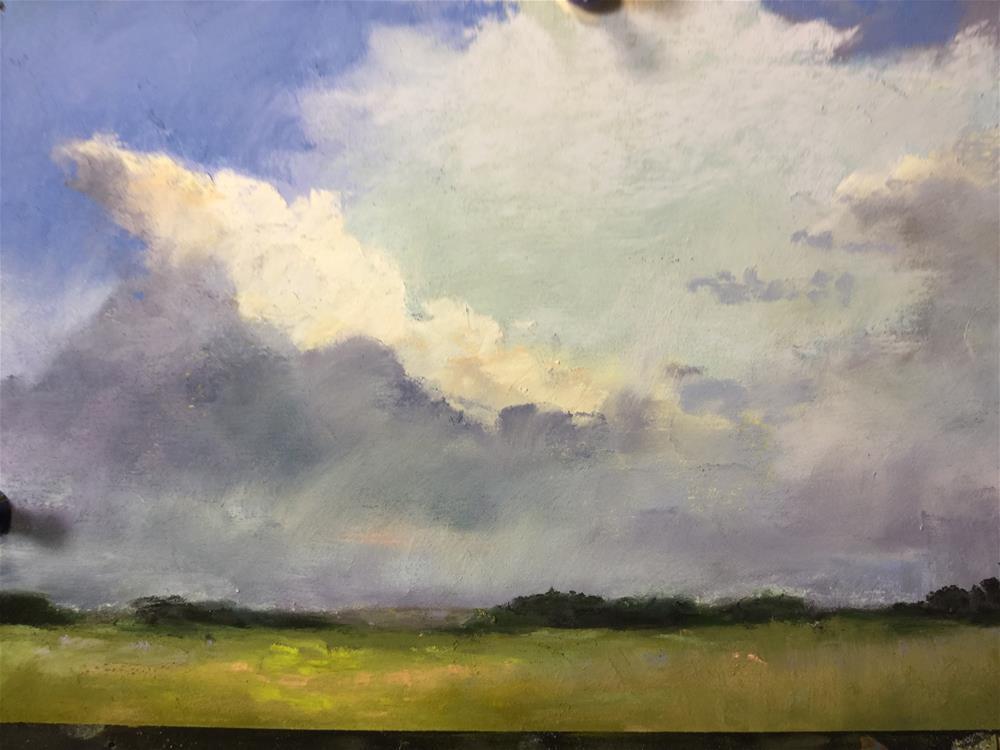 """""""Prairie cloud"""" original fine art by Jan Hutchinson"""