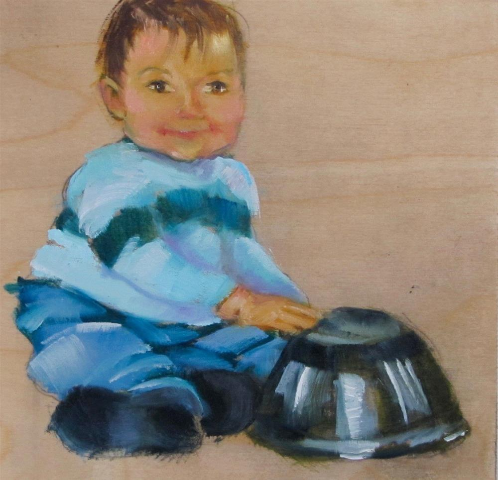 """The Drummer"" original fine art by Christine Holzschuh"