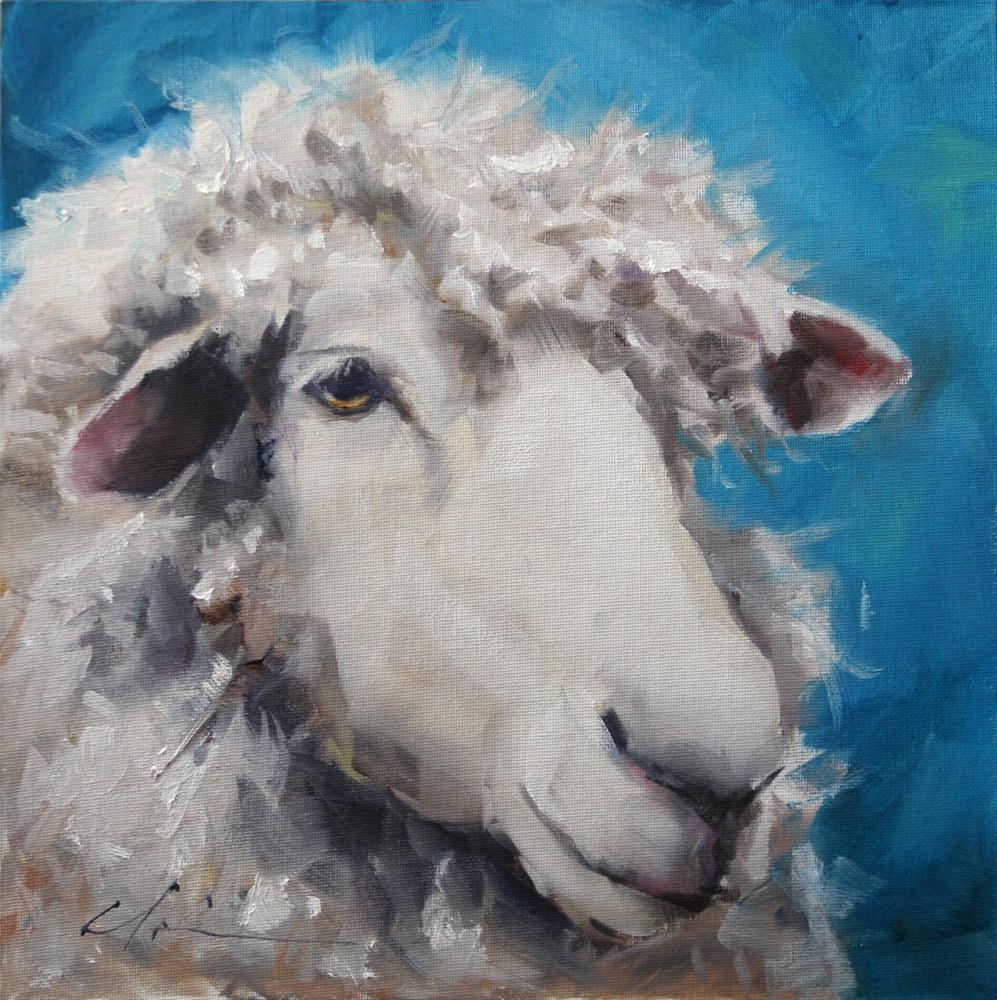 """""""Sheep"""" original fine art by Clair Hartmann"""