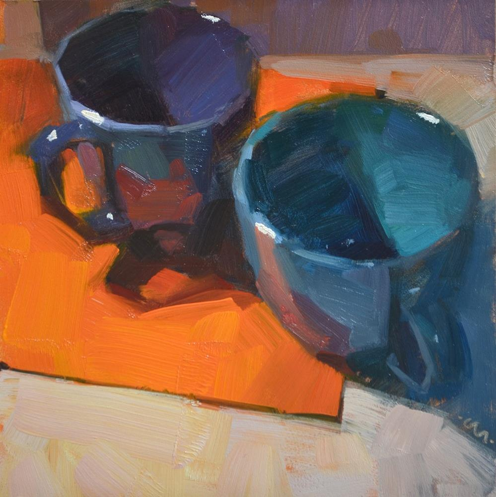"""Confrontational Cups"" original fine art by Carol Marine"