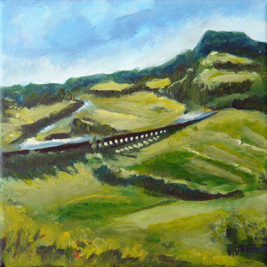 """0567 Aqueduct"" original fine art by Dietmar Stiller"