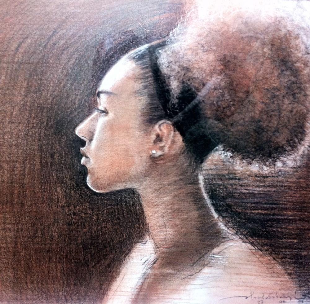"""AFRO XXXIII"" original fine art by Adebanji Alade"