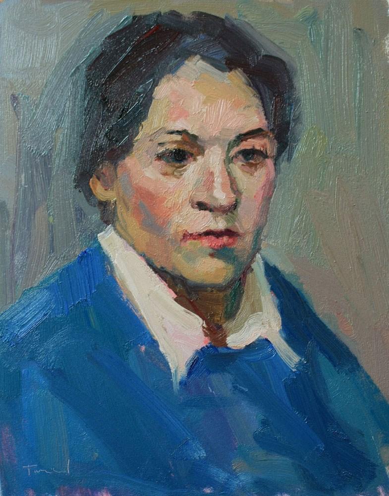 """Portrait Study #26"" original fine art by Kathryn Townsend"