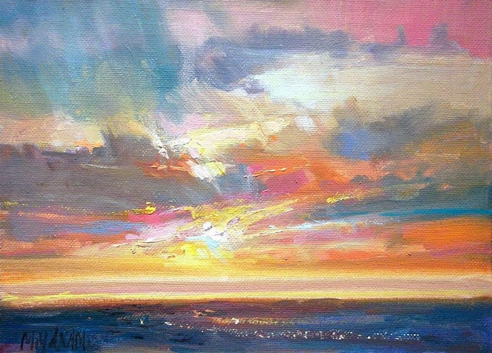 """Sunset For The Year's End"" original fine art by Mary Maxam"