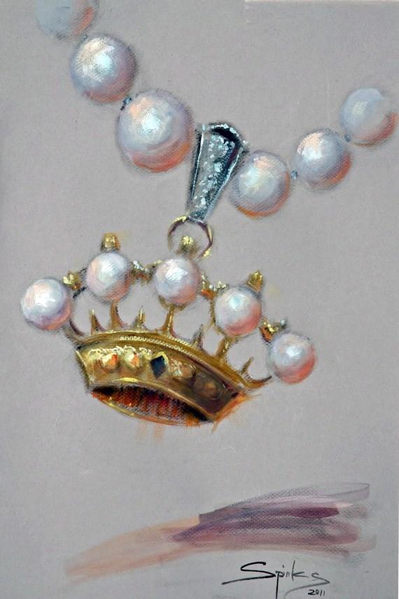 """The Debutante"" original fine art by Johanna Spinks"