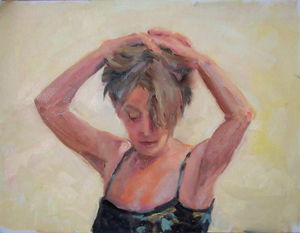 """Mary, portrait,oil on canvas pad,12x16,priceNFS"" original fine art by Joy Olney"