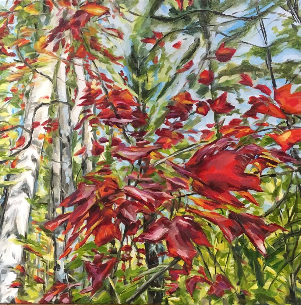 """""""Autumn Breeze (167)"""" original fine art by Tamanda Elia"""