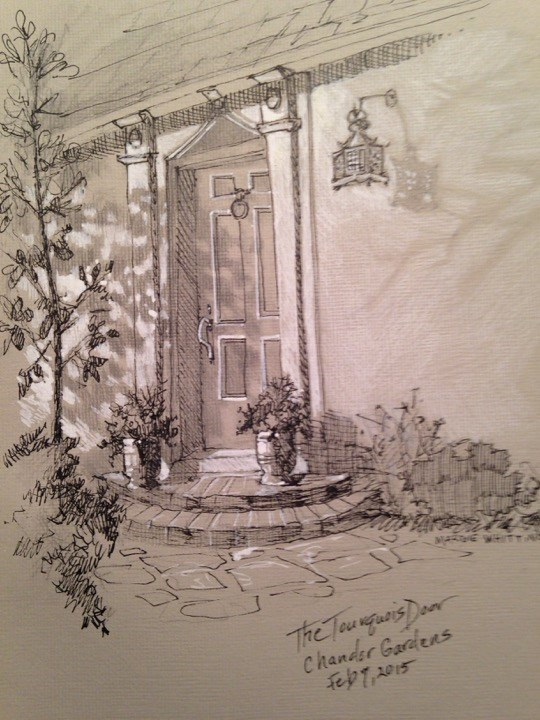 """The Turquois Door"" original fine art by Margie Whittington"