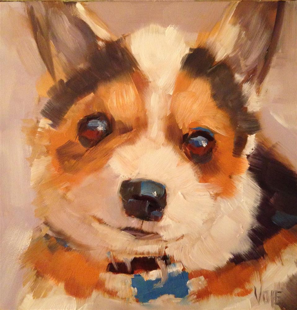 """#53 Puppy Love"" original fine art by Patty Voje"