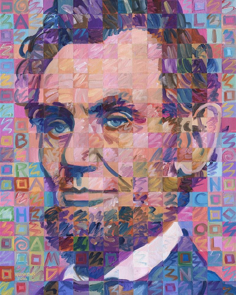 """Abraham Lincoln No. 4"" original fine art by Randal Huiskens"