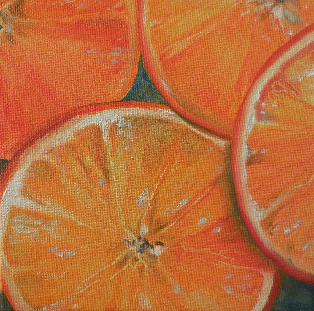"""OJ By The Slice"" original fine art by Beth Moreau"