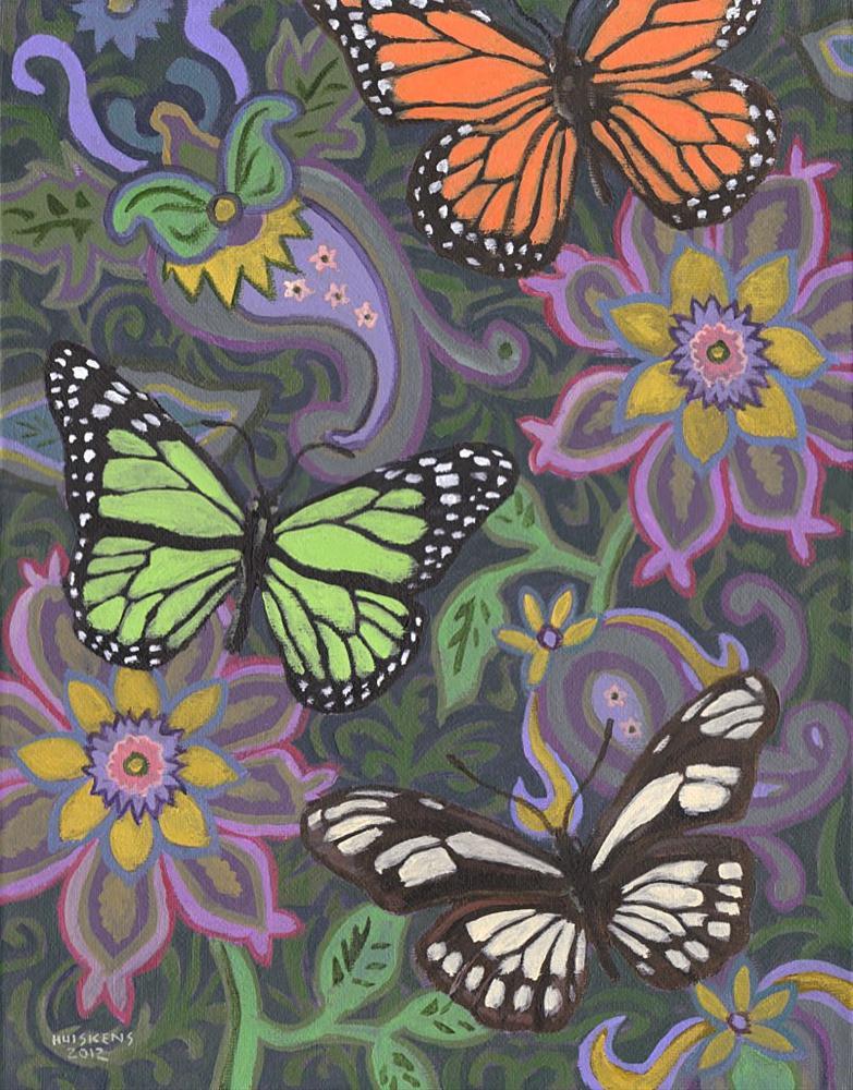 """""""Butterflies No. 2"""" original fine art by Randal Huiskens"""