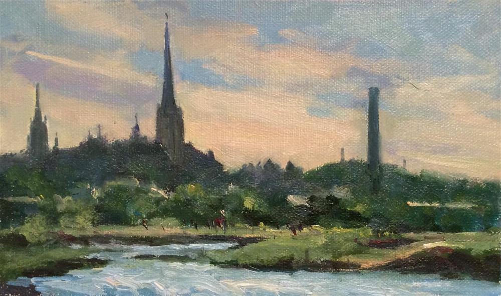 """Tallinn From the Boat"" original fine art by John Shave"