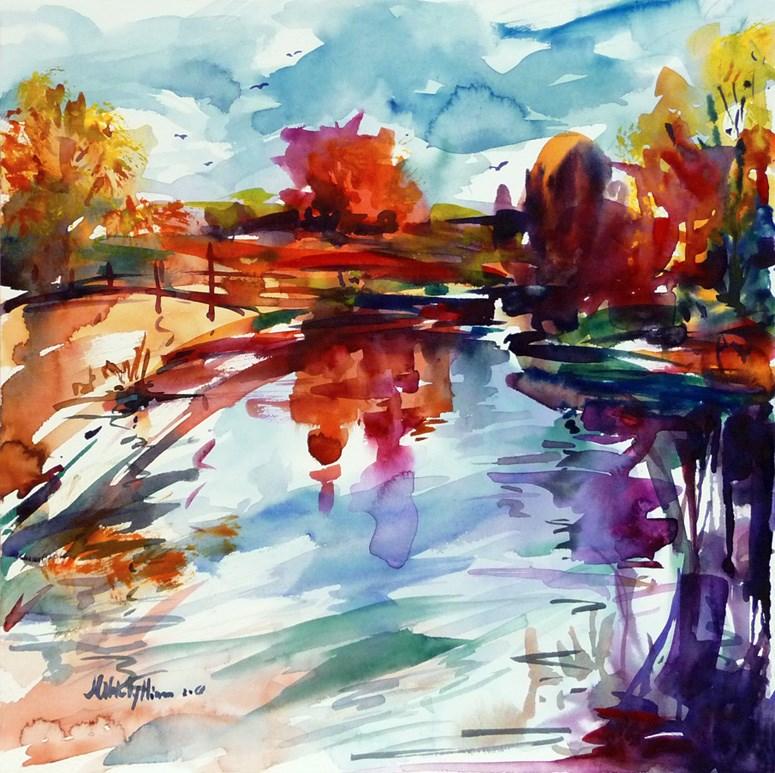 """the approach of rain"" original fine art by Mikko Tyllinen"
