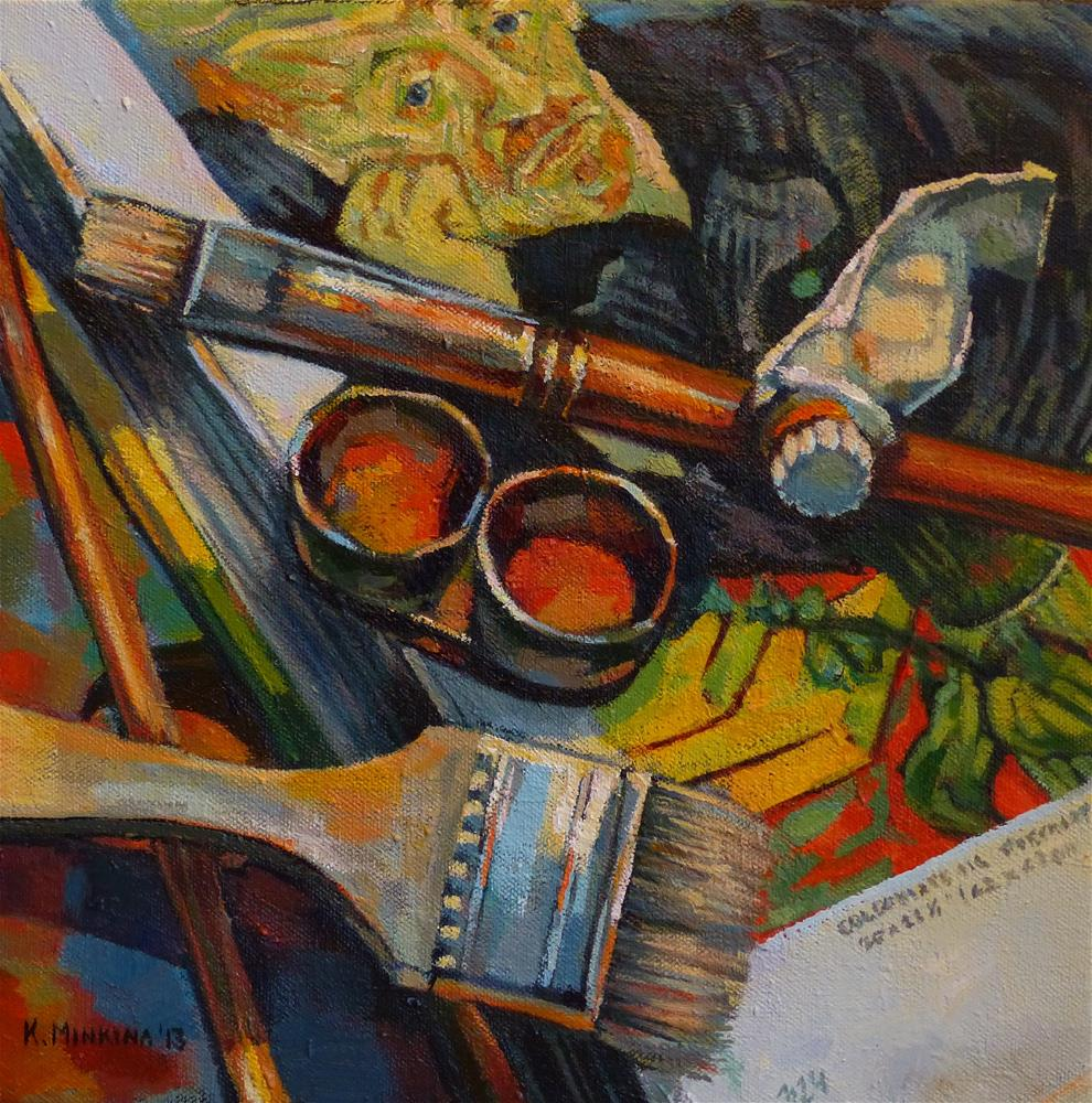 """Master Class with Dr Gachet"" original fine art by Katya Minkina"