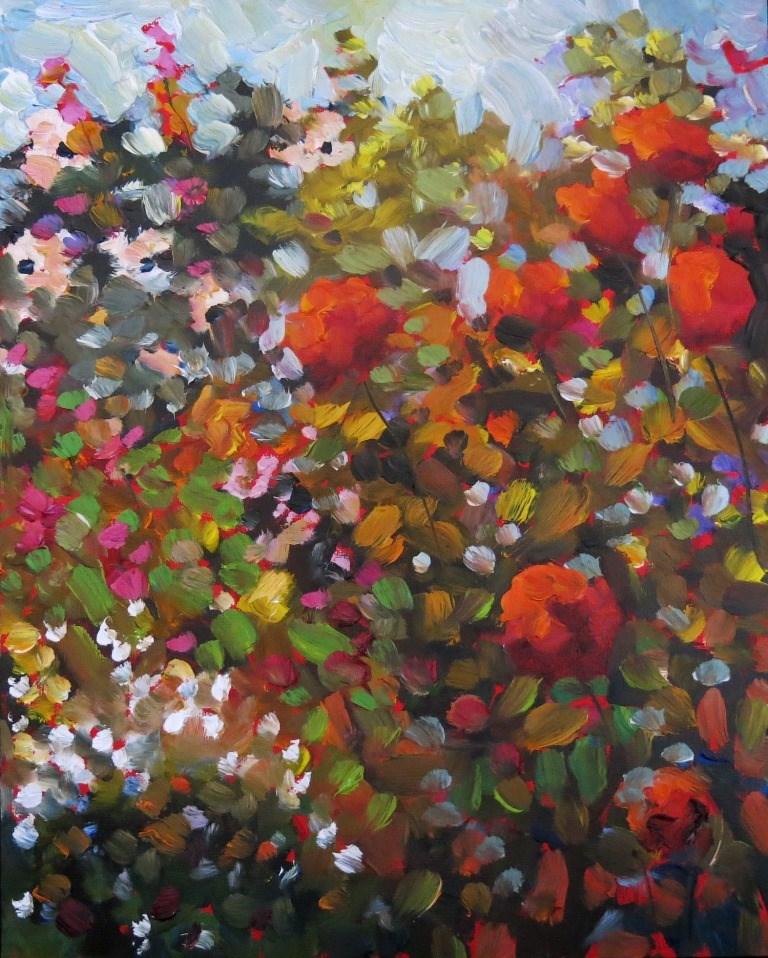 """#149 FLOWER SONG"" original fine art by Dee Sanchez"