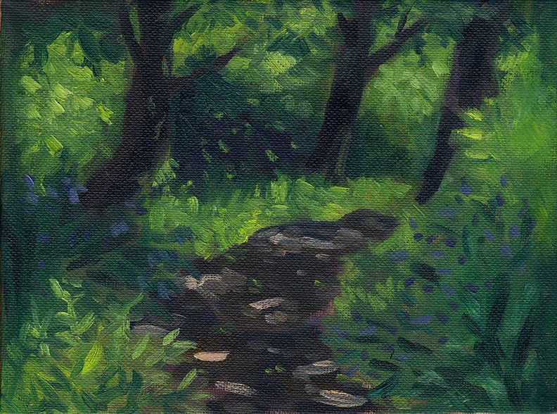 """Summer Path Study"" original fine art by J M Needham"